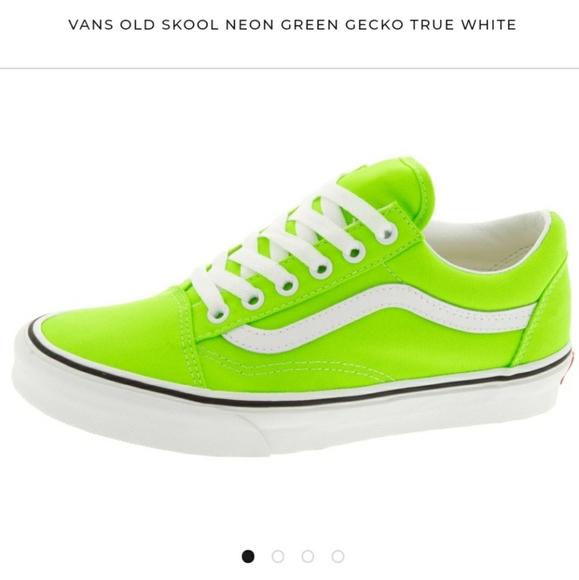 Vans Shoes   Neon Green Old Skool